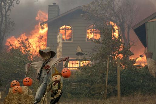 В пожарах гибнут старенькие и невнимательные